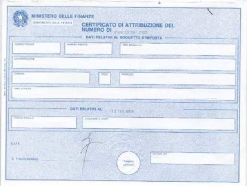 Certificato Attribuzione Partita Iva  Come Richiederlo All