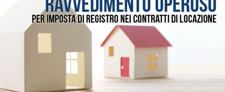 RAVVEDIMENTO OPEROSO contratto locazione